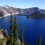 Beautiful Crater Lake in southern Oregon